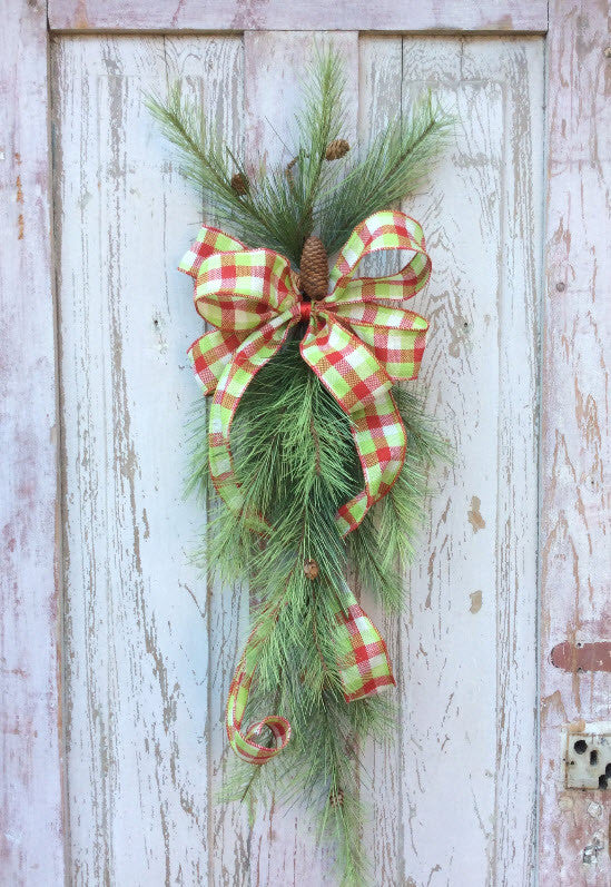 Plaid Christmas Wreath