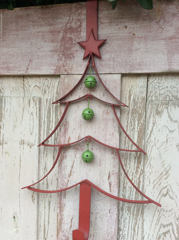 Red Christmas Tree Wreath Hanger