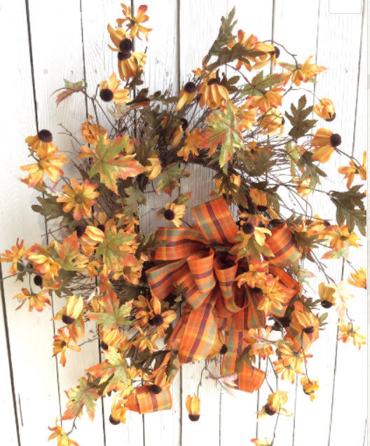 Fall Yellow BlackEye Susan wreath