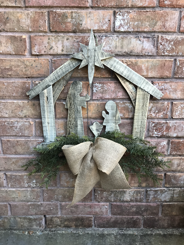Christmas Nativity Door hanger