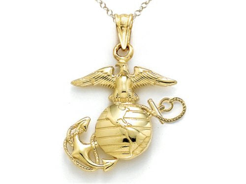 14k Gold Marine Corps Jewelry