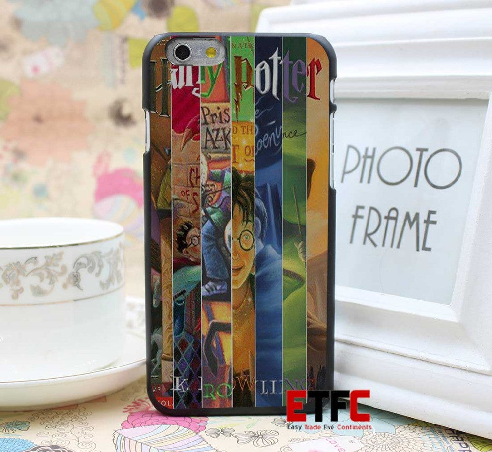 Harry Potter all books Design for iPhone 6 6 Plus Hard Black Skin Case Cover