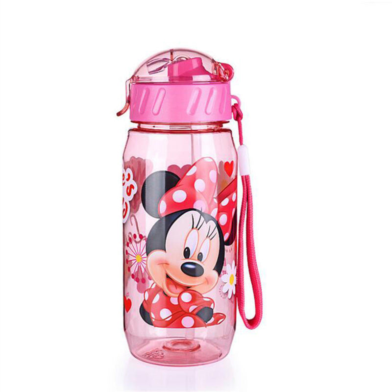 DISNEY Minnie/Mickey Mouse Kids Drinking Bottle Folding Straw School