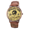 Air Force Nostalgic Quartz Men Watch Camouflage Leather