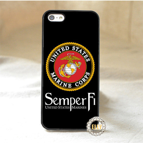 marine corps fashion mobile phone case cover for iphone 4 4s 5 5s 5c 6 6 plus 6s 6s plus *pH479