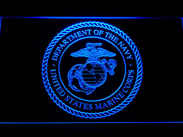 US Marine Corp Military LED Neon Sign with On/Off Switch 7 Colors to choose