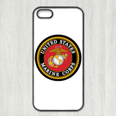 Marine Corps Cover case for iphone 4 4s 5 5s 5c 6 6s plus samsung galaxy S3 S4 mini S5 S6 Note 2 3 4  z0516