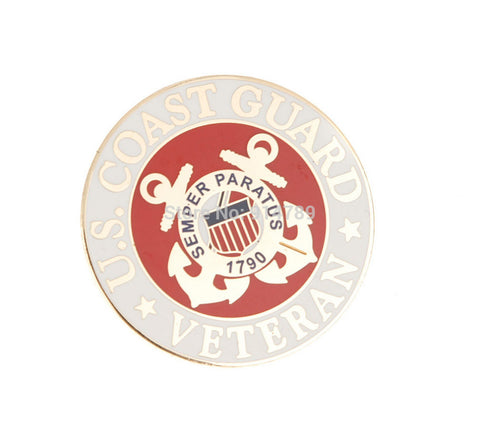 US MILITARY COAST GUARD BETERAN METAL PIN BADGE