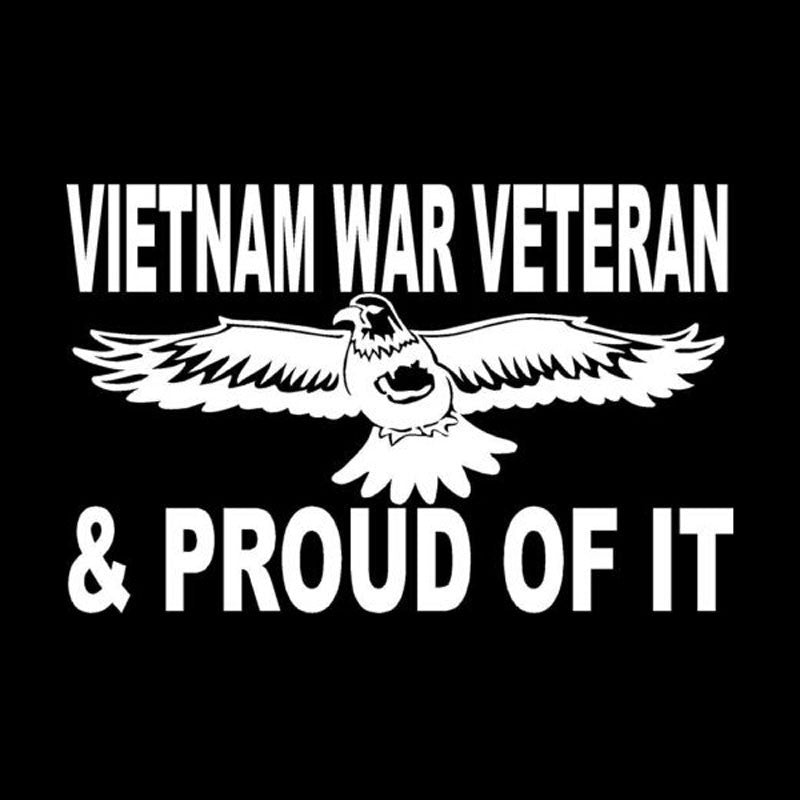 20.2cm*13cm Car Styling Eagle Vietnam War Veteran & Of It Proud Fashion Body Sticker Accessories C5-1068