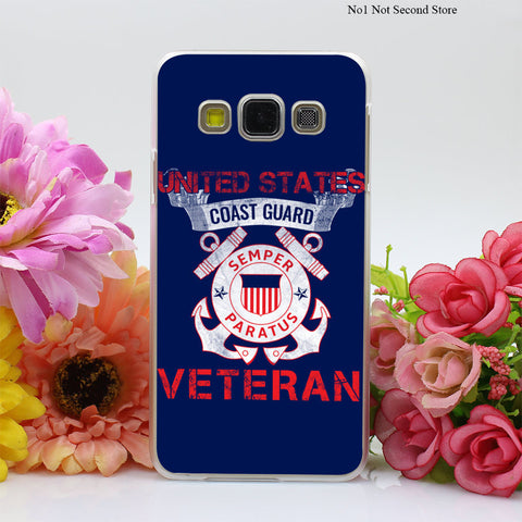 Coast Guard Veteran Hard Case Cover for Galaxy A3 A5 A7 8 J5 J7 Note 2 3 4 5 Grand 2 & Prime