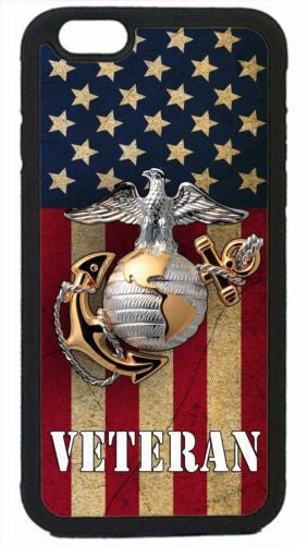 USMC Marines Veteran Marine Corps Case for iPhone 4 4S 5 5S 5C 6 6S Plus Samsung S3 S4 S5 Mini S6 S7