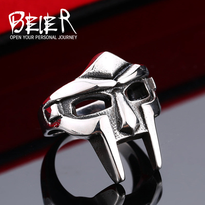 Warrior Spartacus Mask Ring Stainless Steel Jewelry Ring