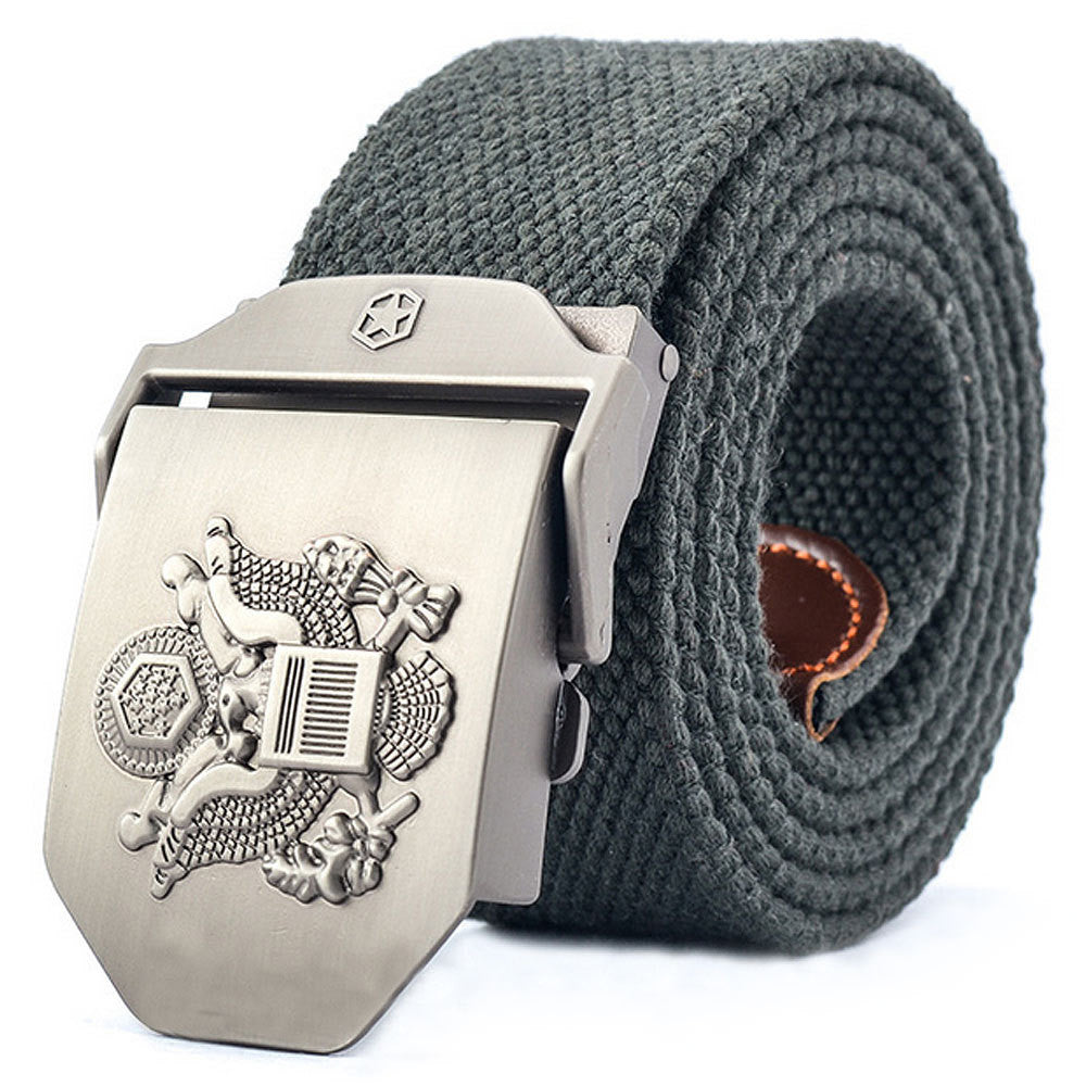 Army Thickened Cool U.S. Navy Seals Alloy Buckle Canvas Belt for Men
