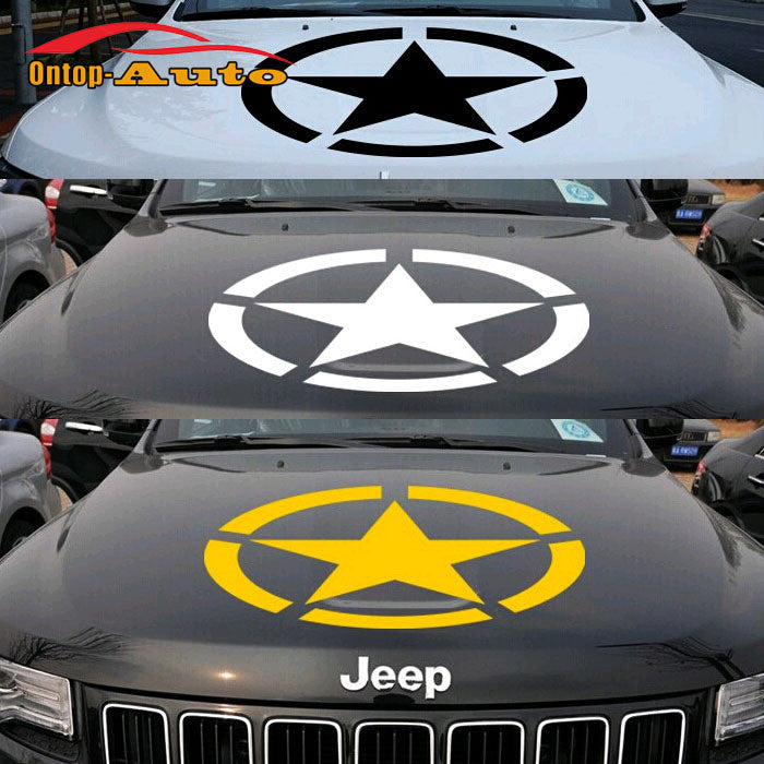 U.S army Star Hood Sticker Decal Vinyl For Jeep Wrangler Compass Grand Cherokee Patriot
