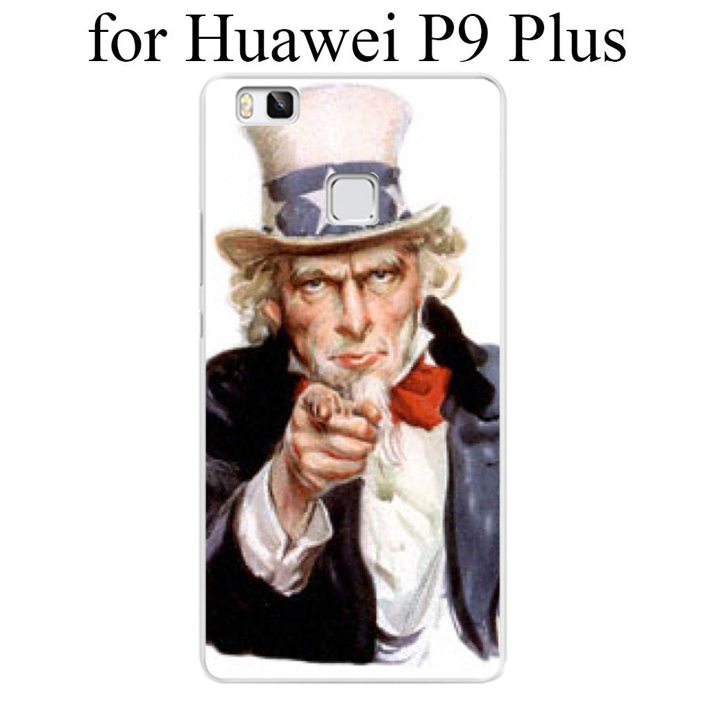 I Want You For U.S. Army World War II Hard Case Cover for Huawei P6 P7 P8 Lite P9 Lite Plus & Honor 6 7 4C 4X G7