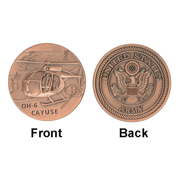 U.S. Army Air Force Cayuse OH-6 Coin America Souvenir Brass Custom Coin