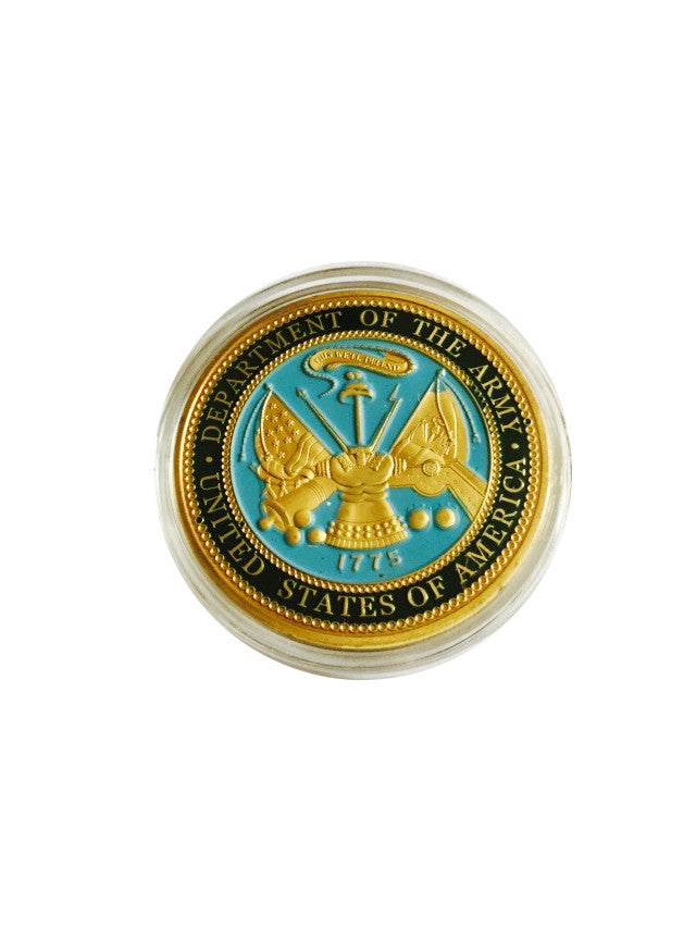 Gold Plated Coin U.S. Department Of The ARMY Challenge Coin