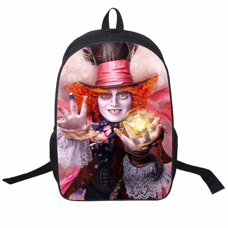 2016 Movie Alice In wonderland Backpacks For Teenage Girls 3D