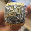 2015 Denver Broncos 50 Super Bowl Championship Ring Solid Replica Championship