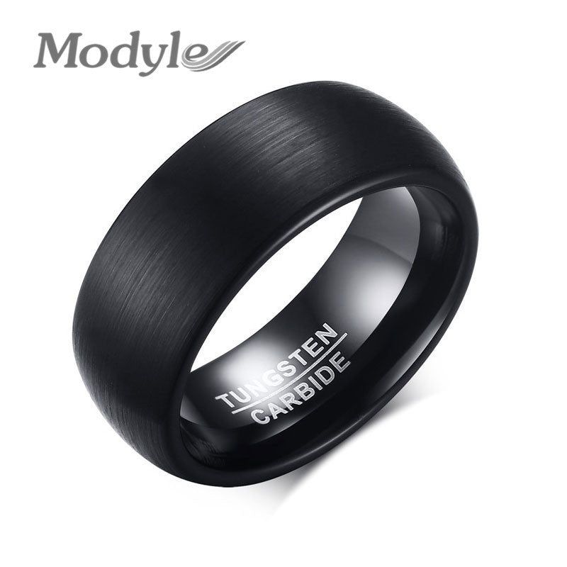 8MM Tungsten Carbide Beveled Edges Promise Wedding Party Rings