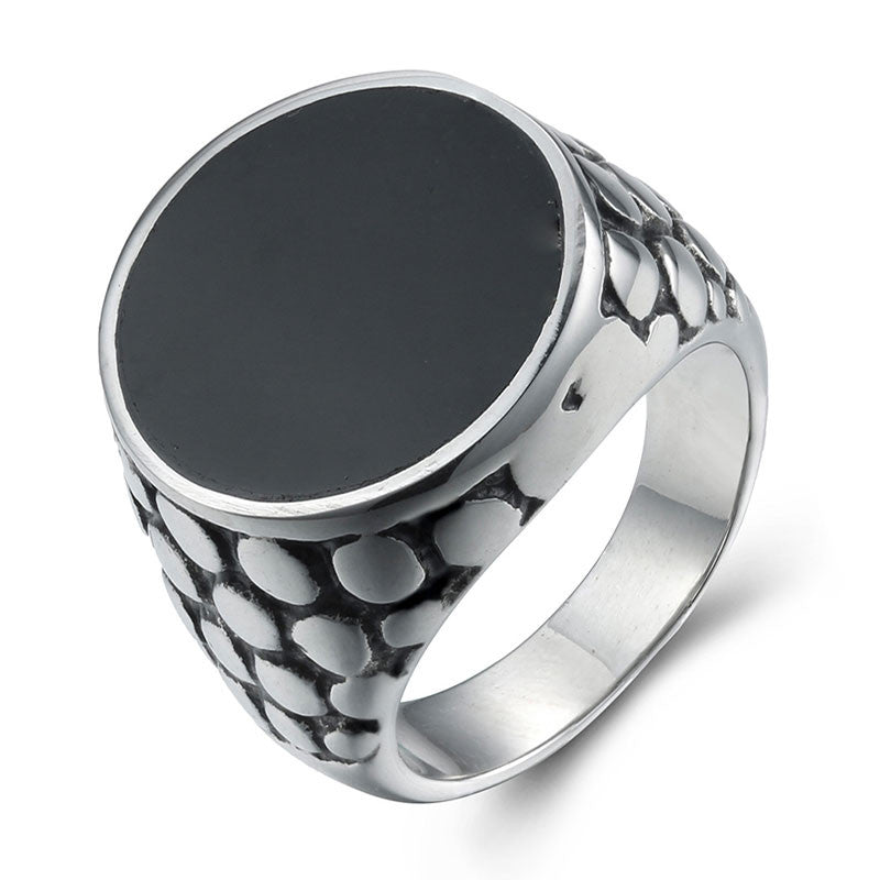 Men Ring Punk Style 316L Stainless Steel Ring