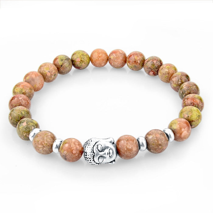 Tiger Eye Stone Buddha Beads Bracelets Bangles Rope Chain Natural Stone Men