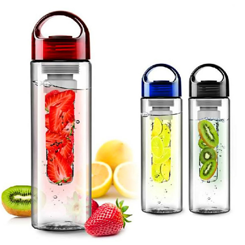 700ml Fruit Juice Cup Infuser My Sport Drinking Detox Water Bottles Flip Lid