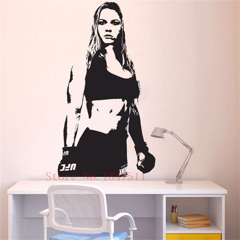 Wall Stickers Decal Art Decor Vinyl DIY home decor UFC Champion MMA Ronda Rousey Art Poster