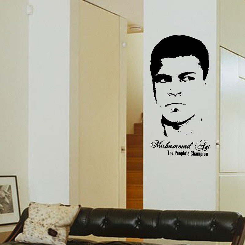21x10inch Best Boxer Muhammad Ali Portrait Design Wall Stickers