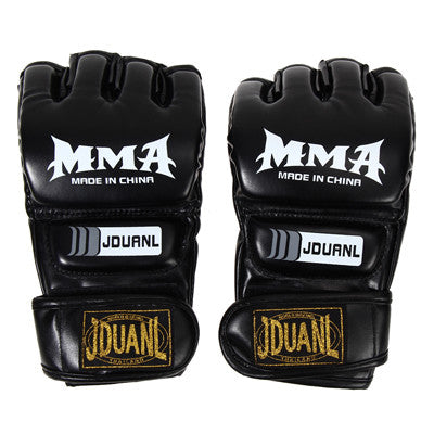 Leather Half Finger Fight Boxing Gloves MMA