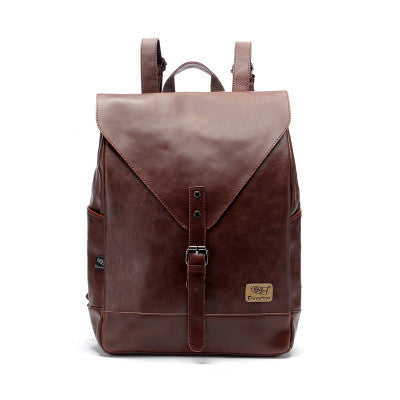 Backpack Leather Men Mochila Bagpack High Quality College Casual Fashion School Bags