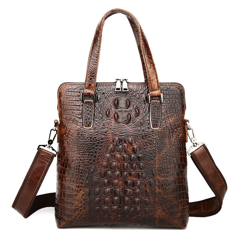 Alligator genuine leather briefcase men tote messenger bag business