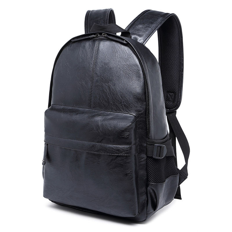 Black Leather Men's Backpacks