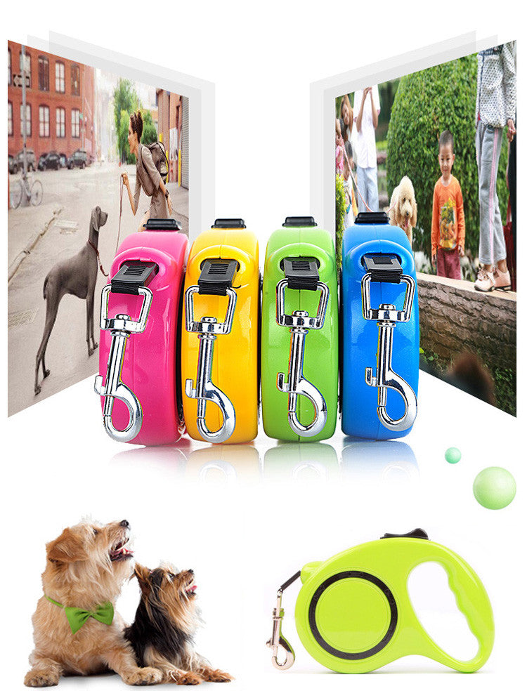 3M 5M Retractable Dog Leash Extending Puppy Walking Leads For Animals