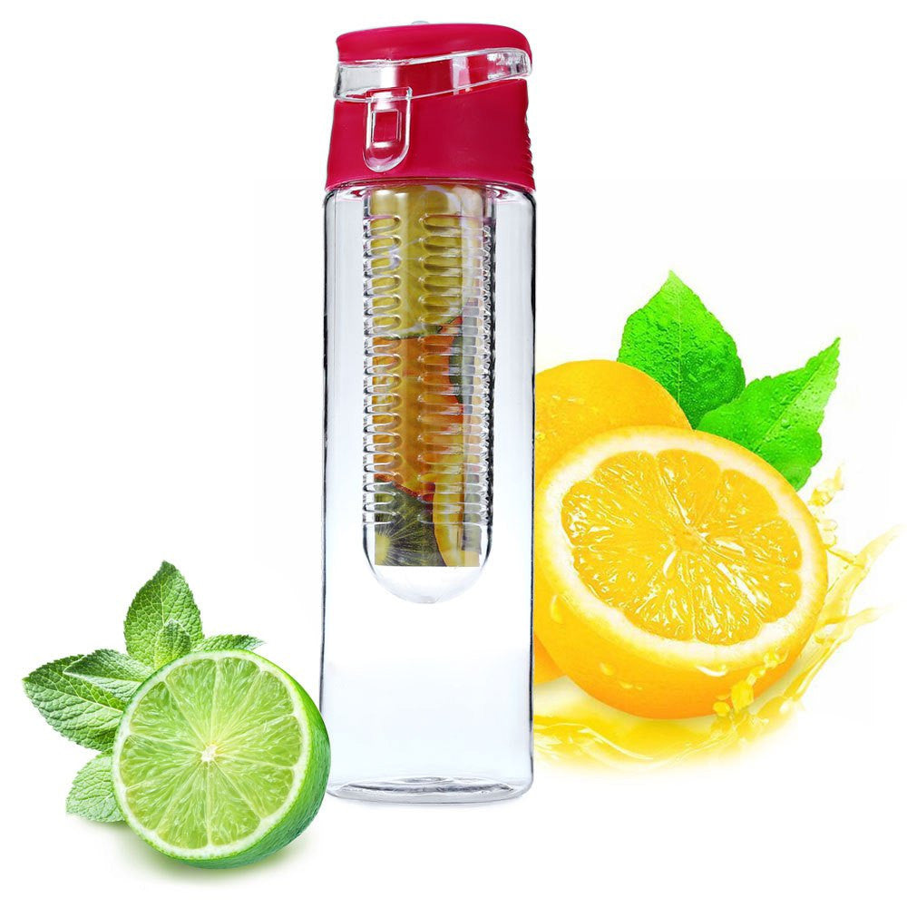 700ML Fruit Infuser Sport Health Lemon Botel with Flip Lid Camping Travel Outdoor