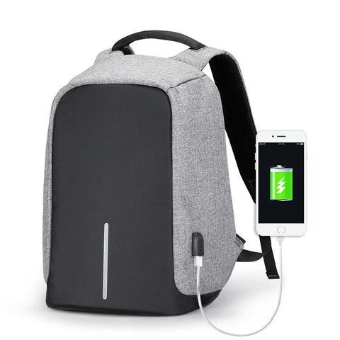 Anti-Theft Original Multifunctional Travel / Laptop Backpack with USB - 15.6 inch