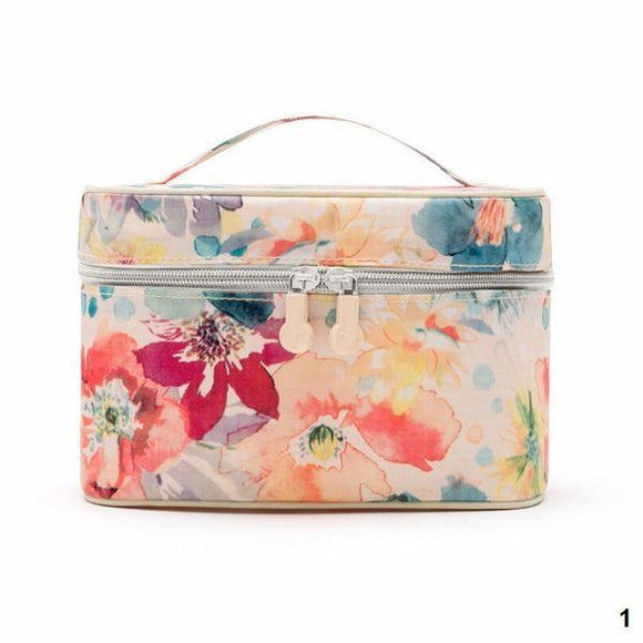 [BUNDLE] 14 PC Floral Design Travel Organizer Bag (COMPLETE SET)