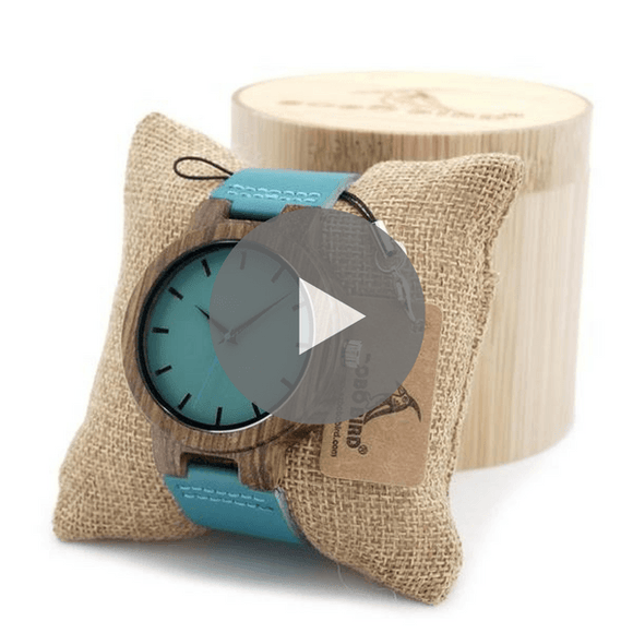 High Quality Bamboo Wood Watch With Gift Box