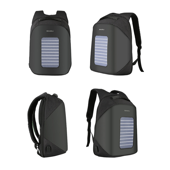 Anti-Theft City Style Solar Charging Laptop Backpack with USB
