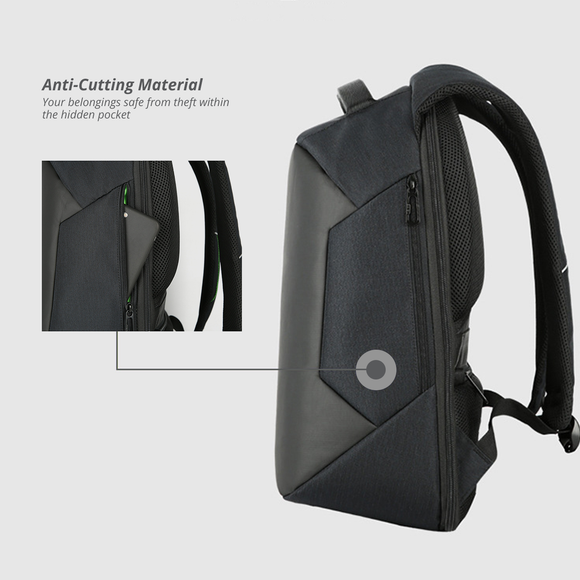 Anti-Theft City Style Multifunctional Waterproof Laptop Backpack with USB