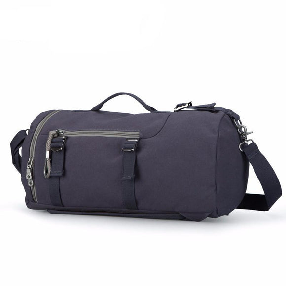 Cylinder Shape Multifunctional Travel Backpack - Retro Design