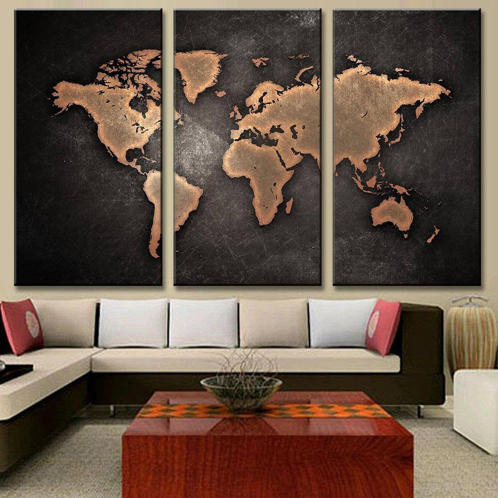 Classic black world map painting on canvas travel nuts classic black world map painting on canvas gumiabroncs Choice Image