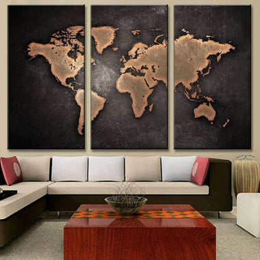 Shop world maps canvas painting vintage oil painting map travel nuts classic black world map painting on canvas gumiabroncs Choice Image