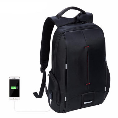 5802e753167 Waterproof 17 inch Laptop Travel Backpack with USB Charging Port ...