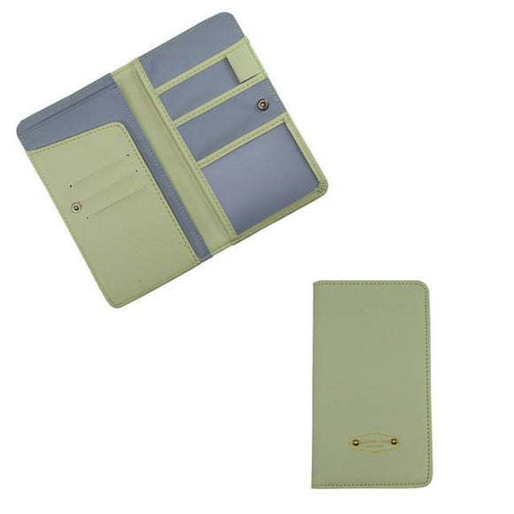 Solid Color Multifunctional Passport And Card Organizer