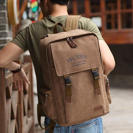 Retro Style Laptop Travel Backpack - Unisex