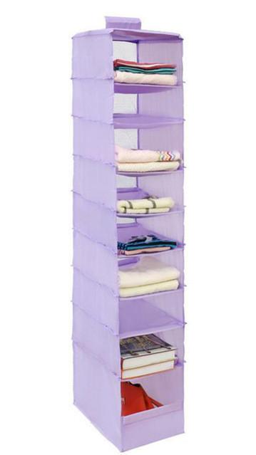 9 Cell Portable Hanging Wall Closet Organizer Box