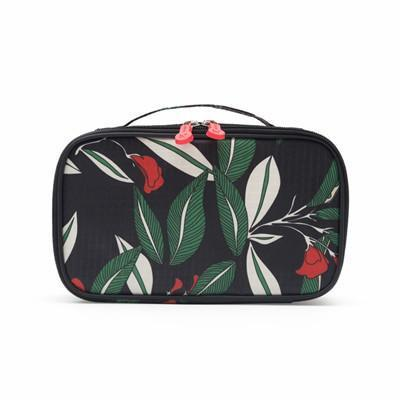 Leaf Patterned Makeup Organizer Pouch