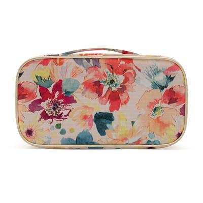 Floral Design Travel Lingerie And Toiletry Pouch