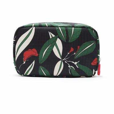 Leaf Patterned Mini Makeup Pouch Case